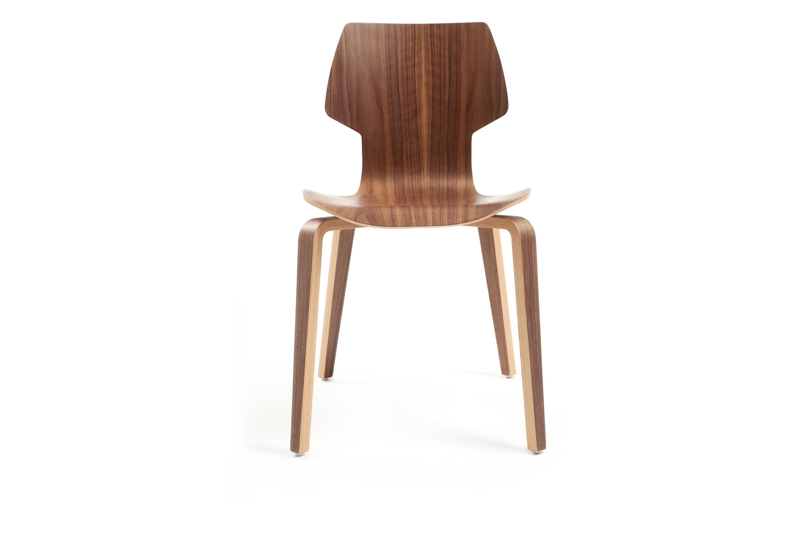 Gràcia Wooden Dining Chair Walnut Plywood