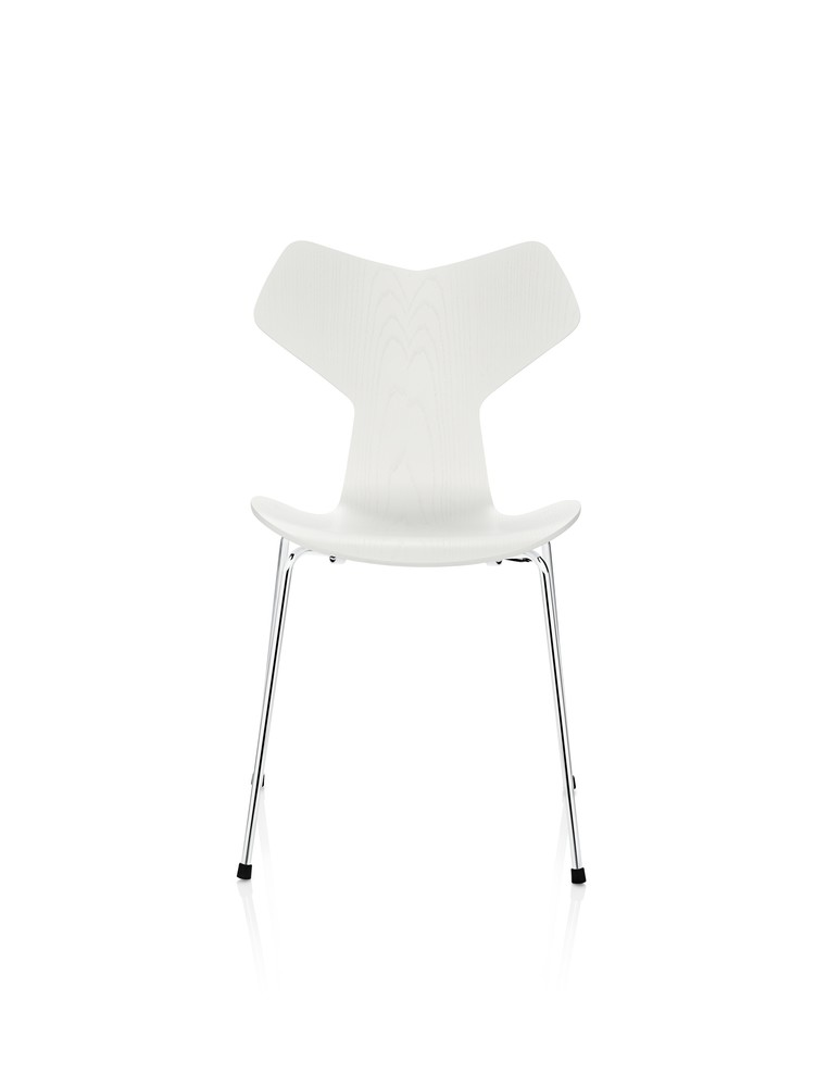 Grand Prix Stackable Chair Coloured Ash White 105