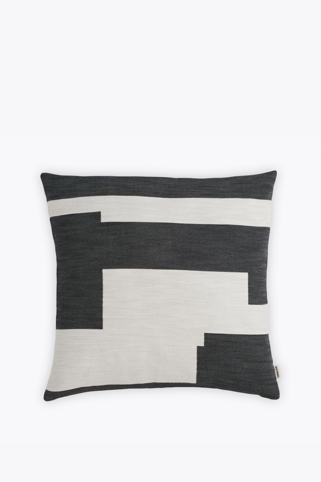 Graphic Square Cushion Black, Large