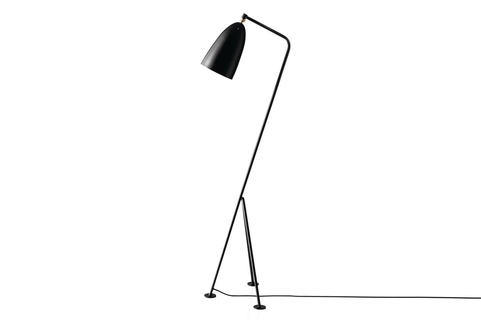 Gräshoppa Floor Lamp Metal Jet Black