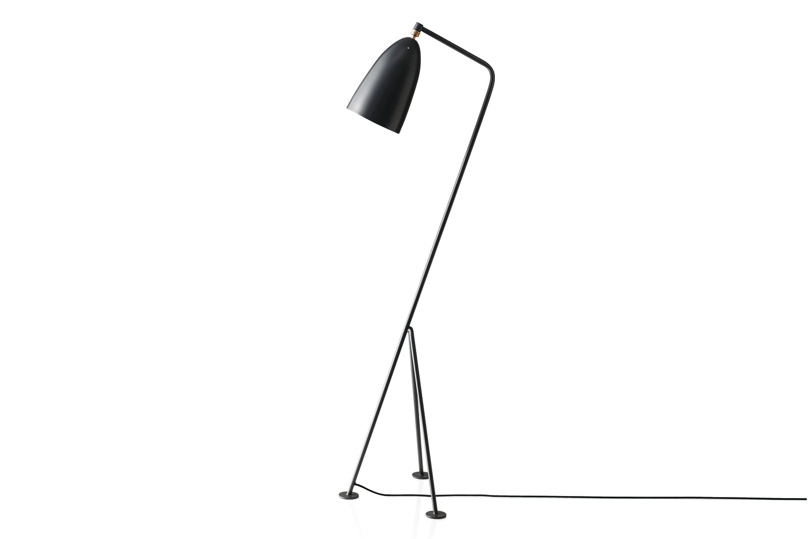 Grasshopper Floor Lamp Gubi Metal Anthracite Grey