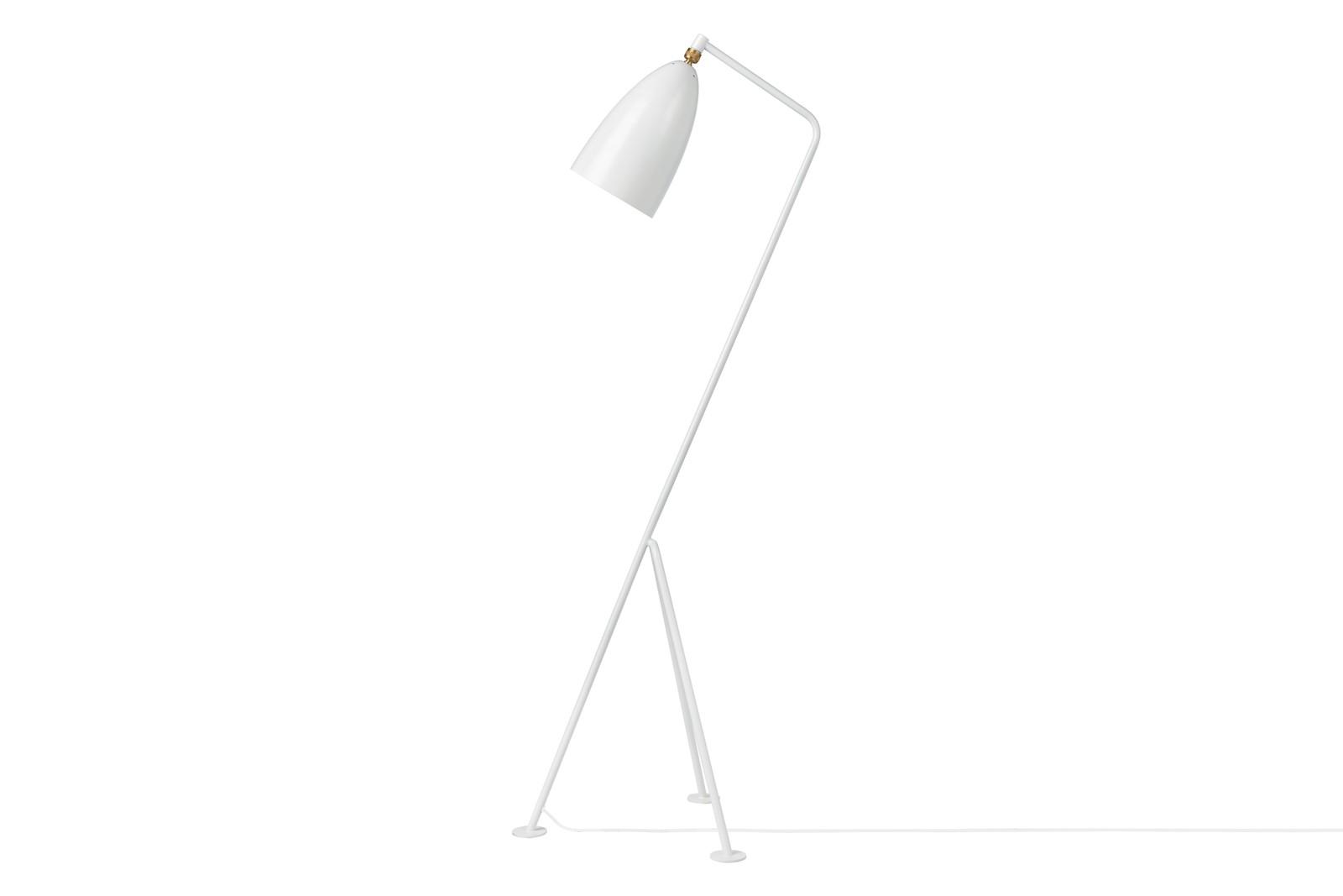 Grasshopper Floor Lamp Gubi Metal Matt White