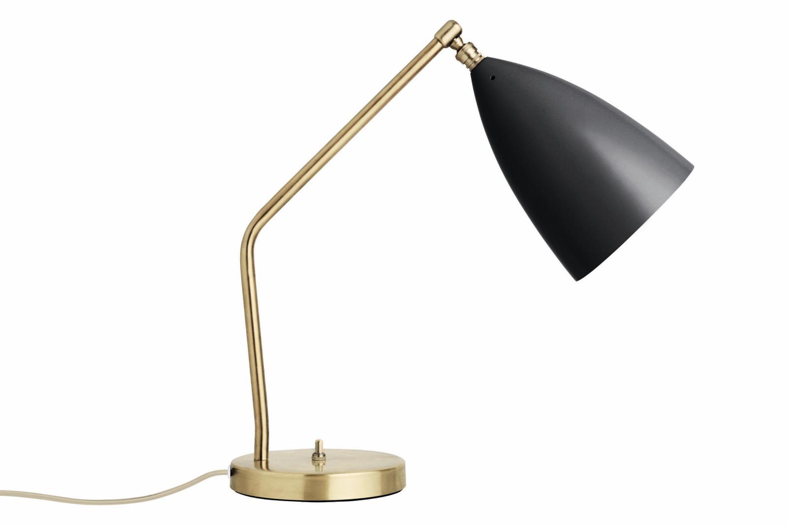 Grasshopper Table Lamp Gubi Metal Jet-Black