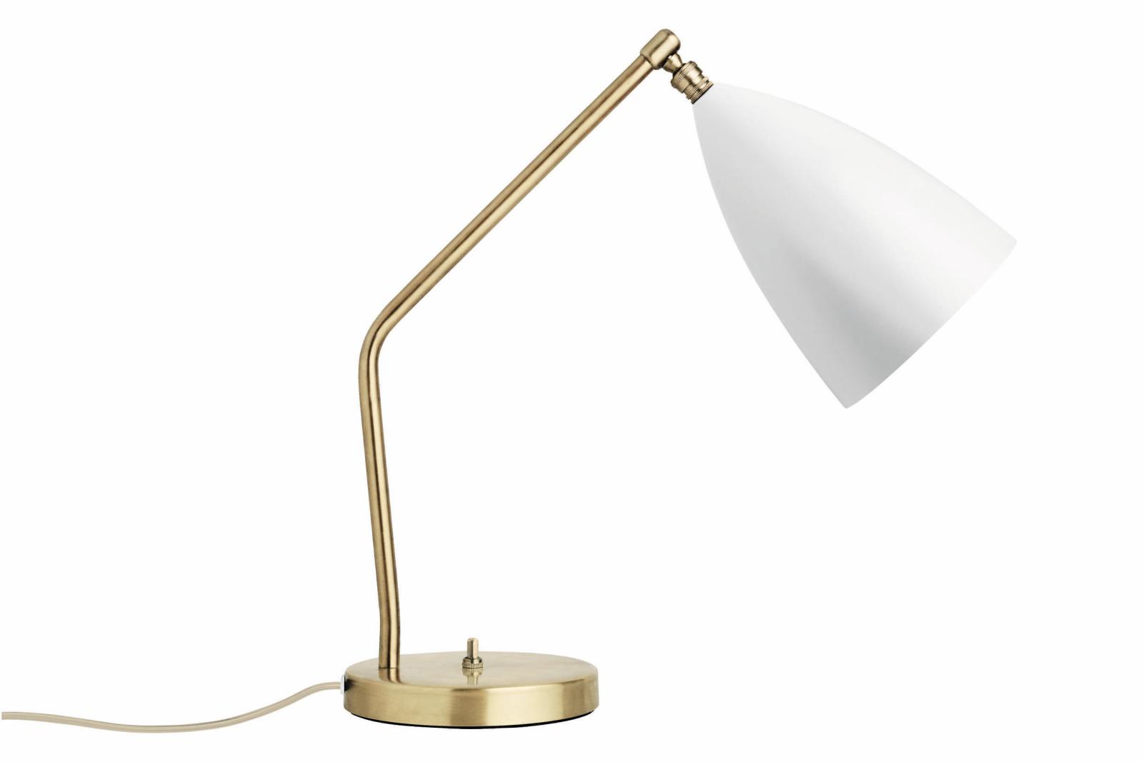 Grasshopper Table Lamp Gubi Metal Matt White