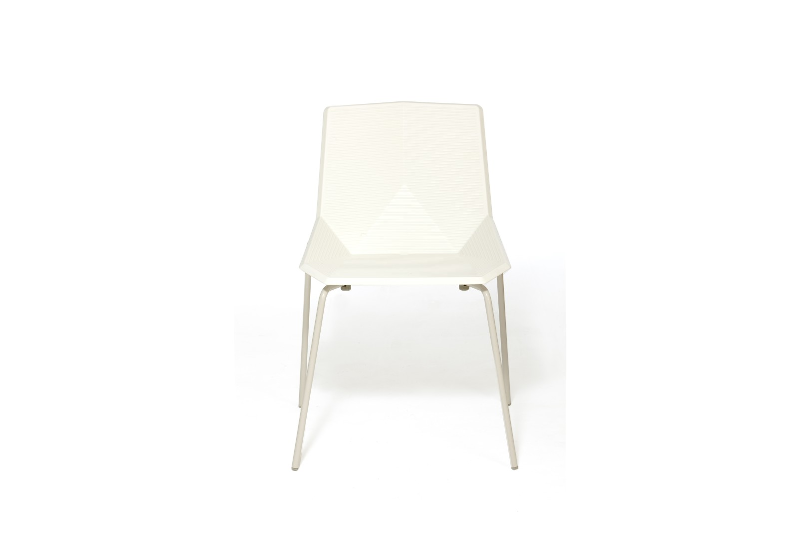Green Colors Metal Dining Chair White