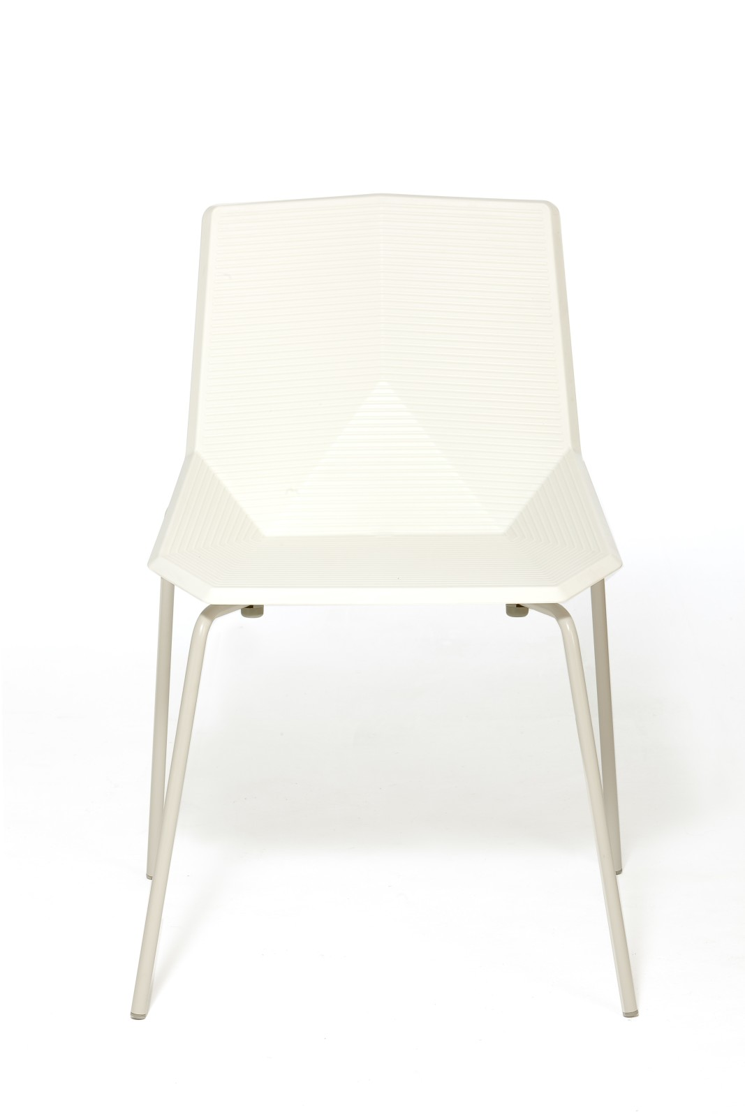 Green Eco Metal Dining Chair White Seat