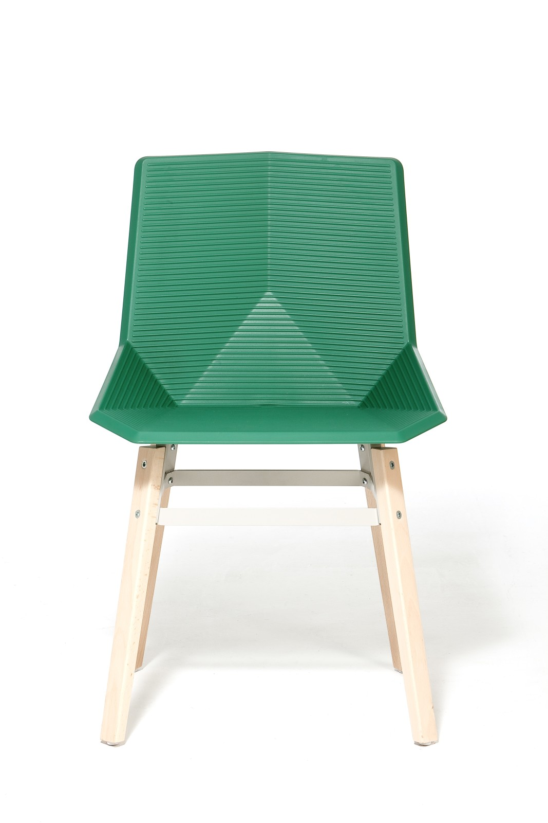 Green Eco Wooden Dining Chair Green Seat