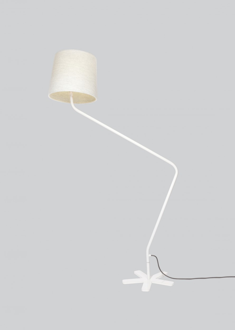 Groggy Floor Lamp Off White, White