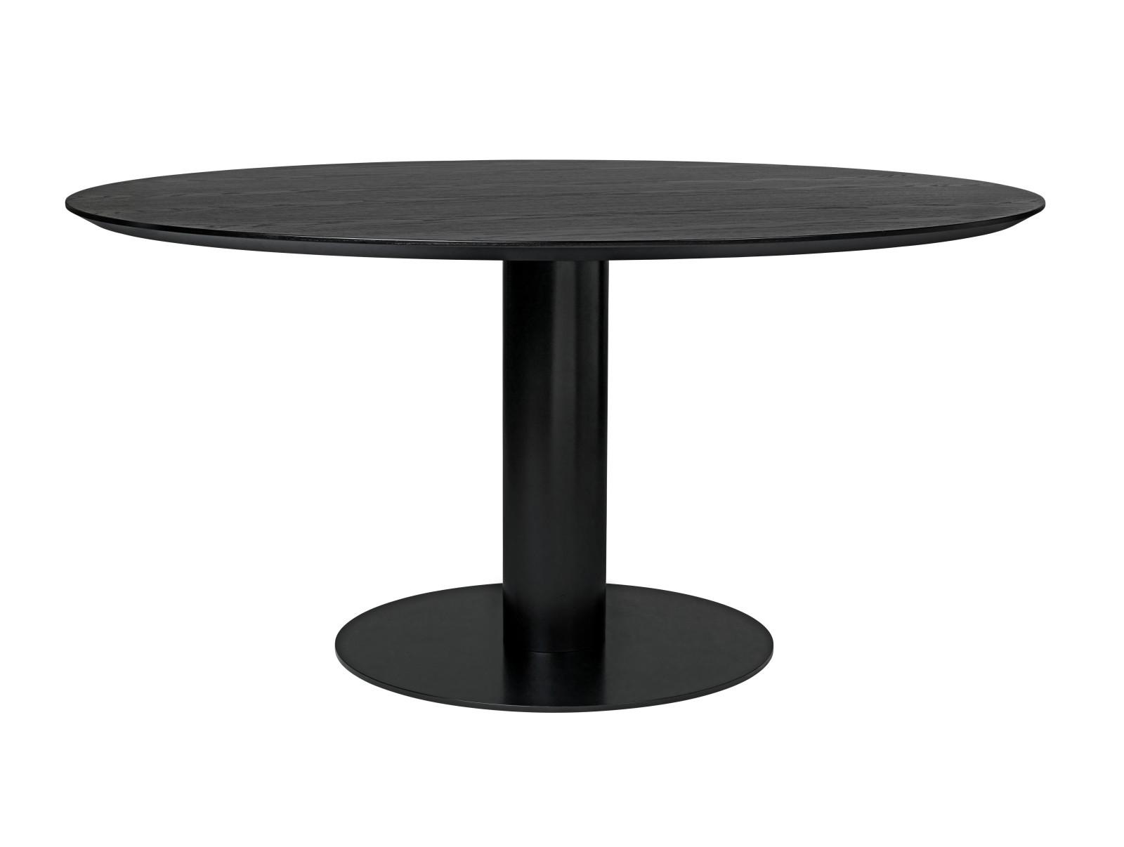 Gubi 2.0 Round Dining Table - Laminate Gubi Metal Black, Gubi Laminate Black, 0130