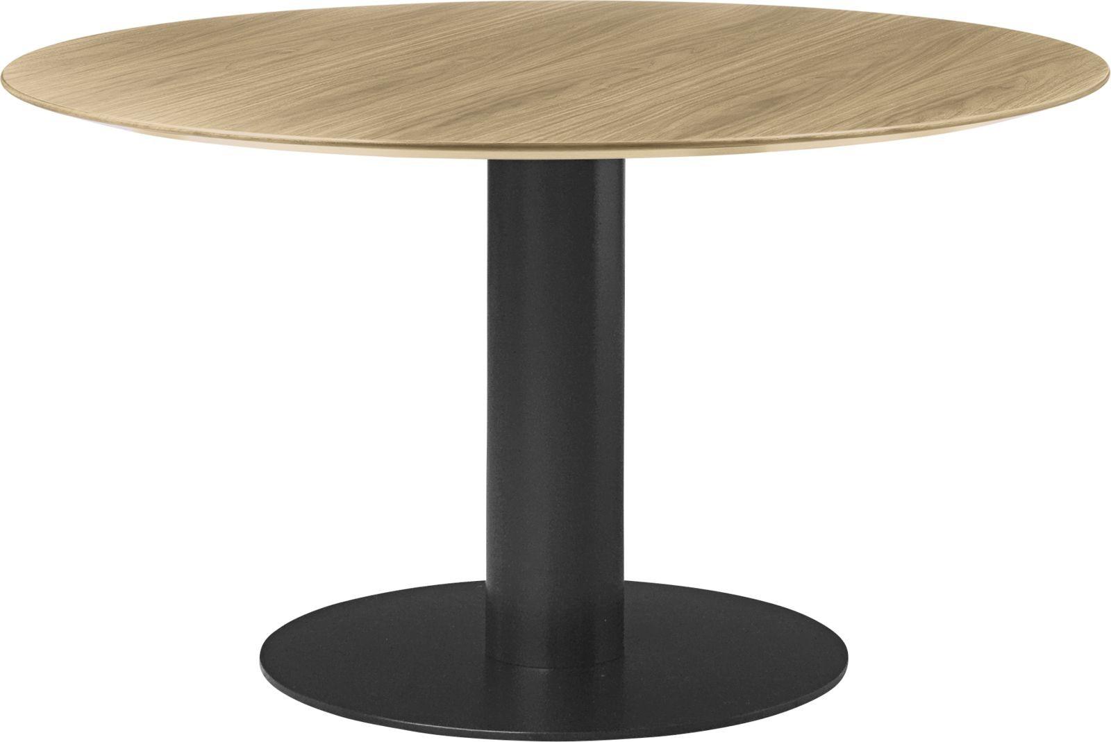 Gubi 2.0 Round Dining Table - Wood Gubi Metal Black, Gubi Wood Oak, 0130