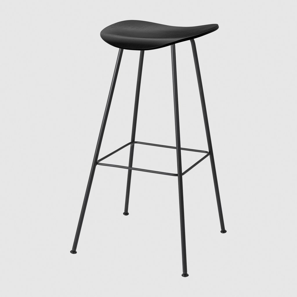 Gubi 2D Bar Stool Center Base - Unupholstered Gubi Wood Oak