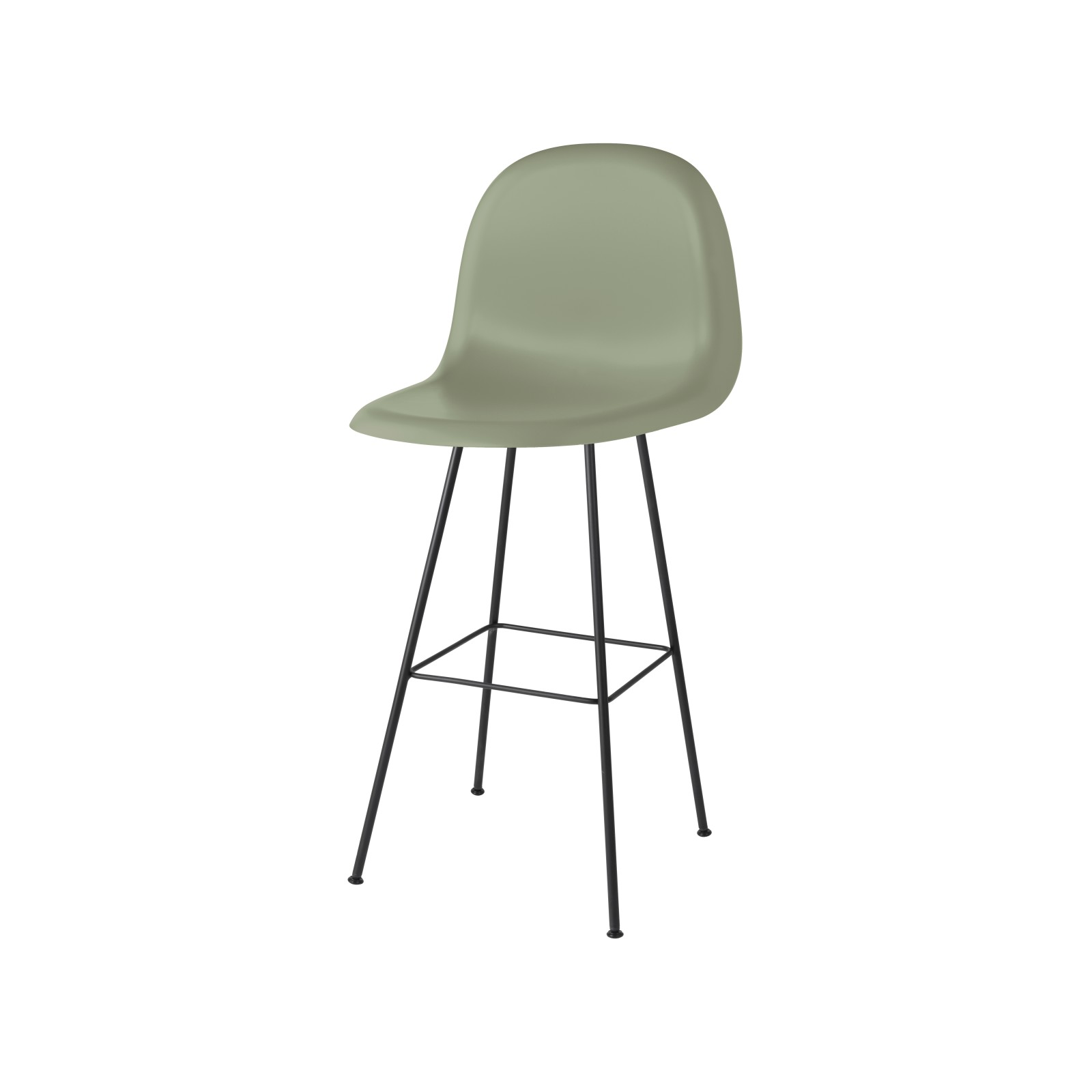 Gubi 3D Bar Chair Center Base - Unupholstered Gubi HiRek Mistletoe