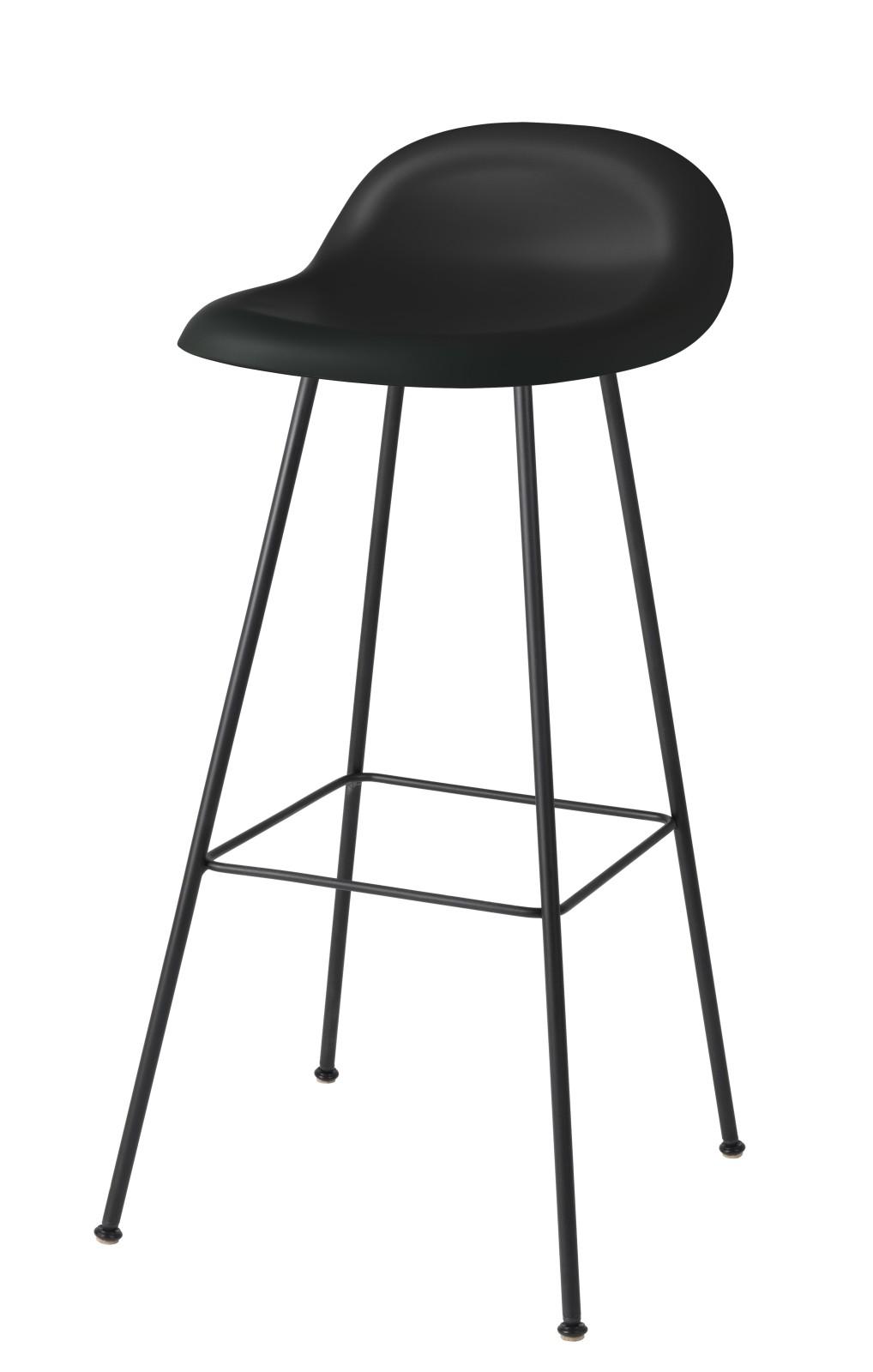 Gubi 3D Bar Stool Center Base - Unupholstered Gubi HiRek Black