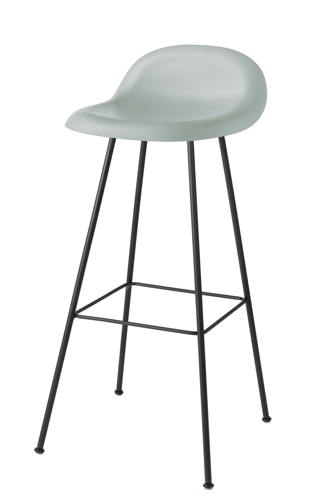 Gubi 3D Bar Stool Center Base - Unupholstered Gubi HiRek Moon Grey