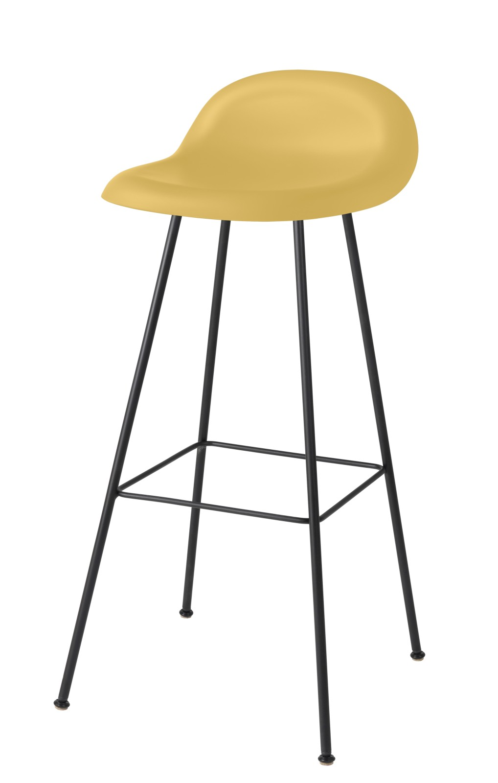Gubi 3D Bar Stool Center Base - Unupholstered Gubi HiRek Venetian Gold