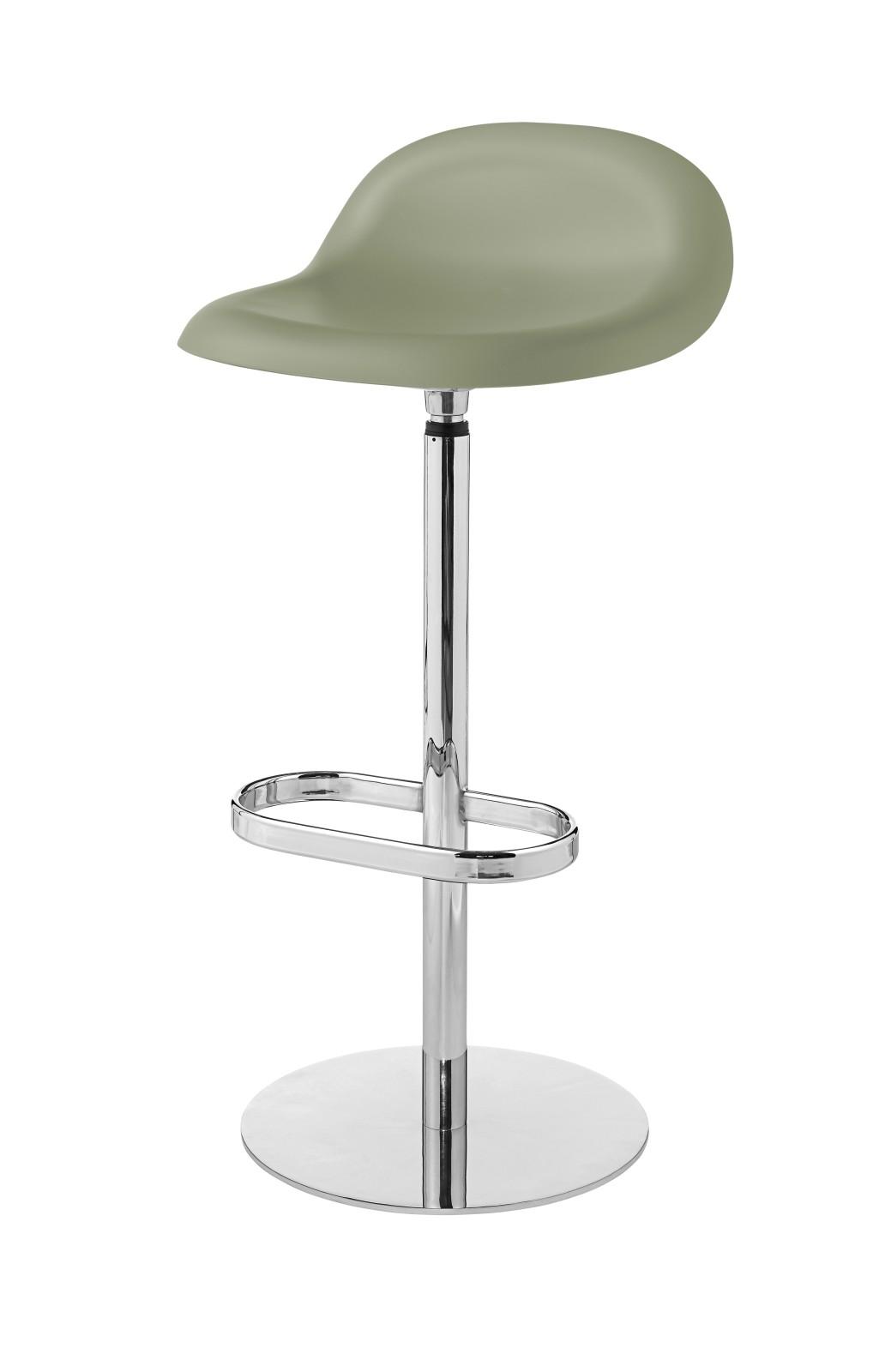 Gubi 3D Bar Stool Swivel Base - Unupholstered Gubi HiRek Mistletoe