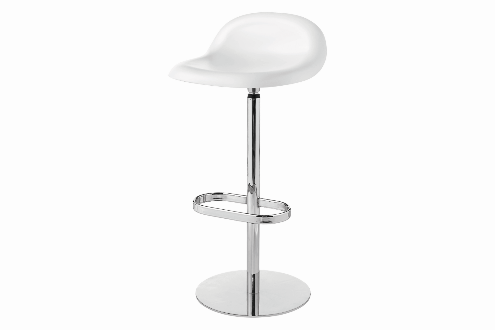 Gubi 3D Bar Stool Swivel Base - Unupholstered Gubi HiRek White Cloud