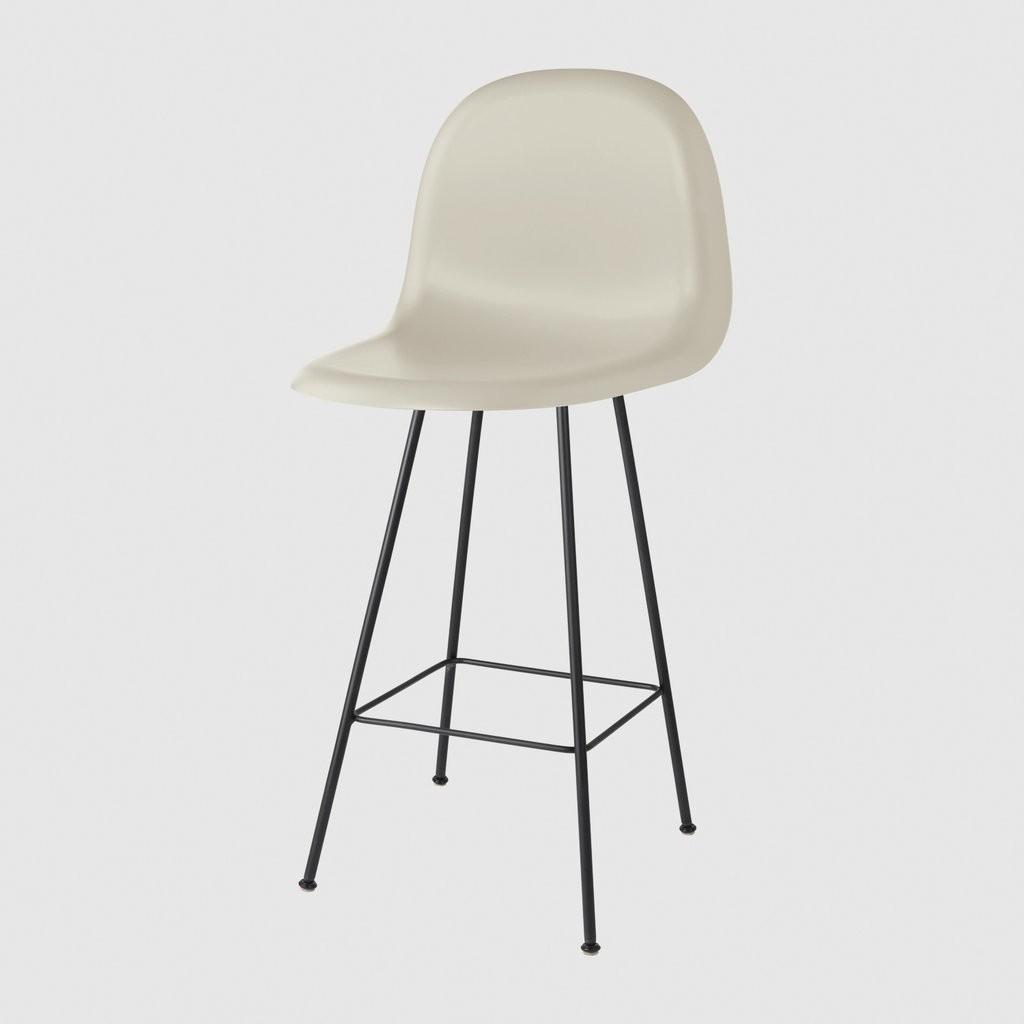 Gubi 3D Counter Chair Center Base - Unupholstered Gubi HiRek Moon Grey