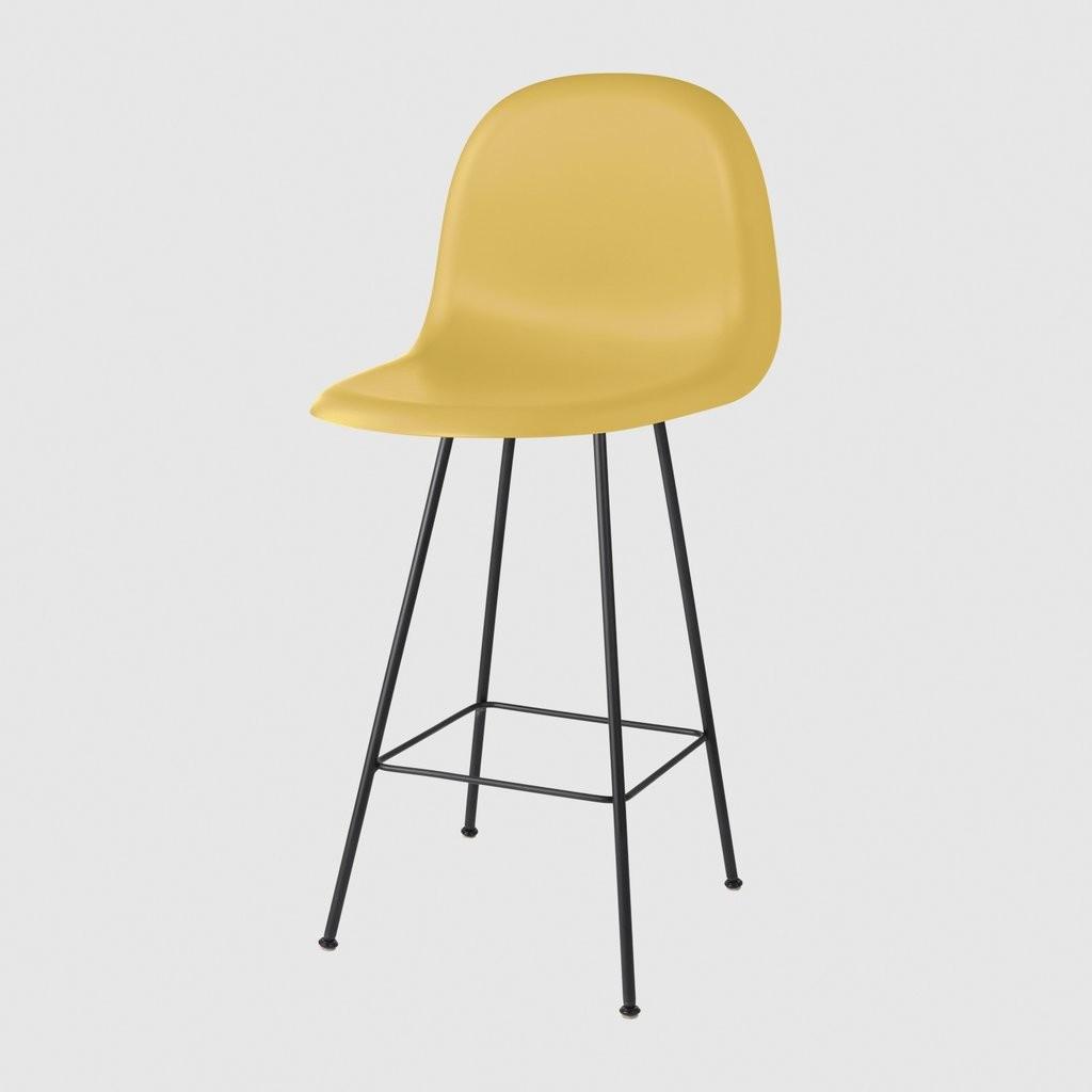 Gubi 3D Counter Chair Center Base - Unupholstered Gubi HiRek Venetian Gold