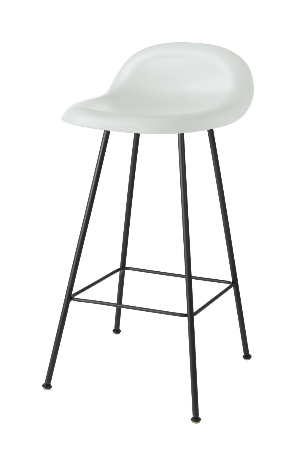 Gubi 3D Counter Stool Center Base - Unupholstered Gubi HiRek White Cloud