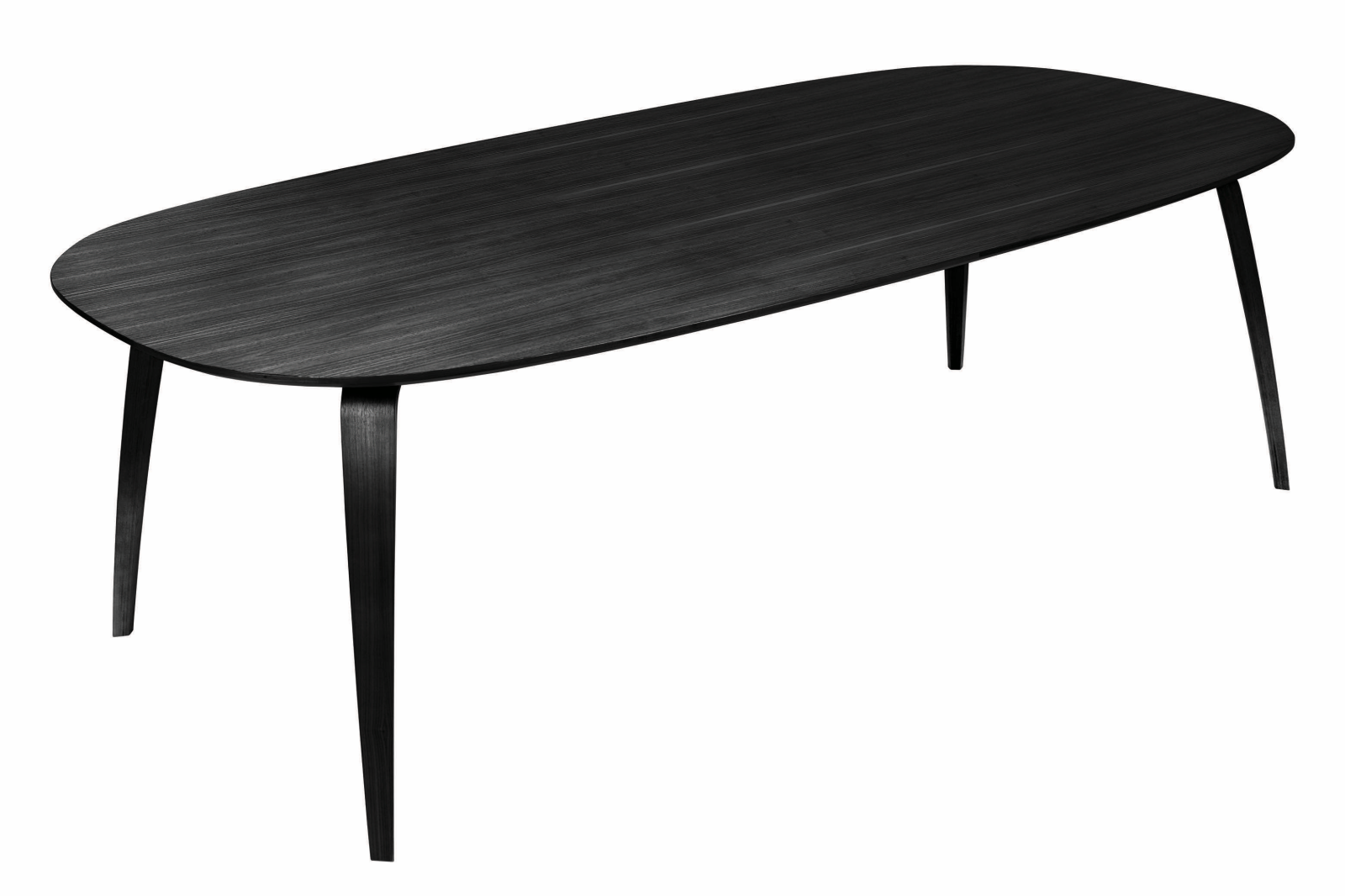 Gubi Elliptical Dining Table Gubi Wood Black Stained Ash