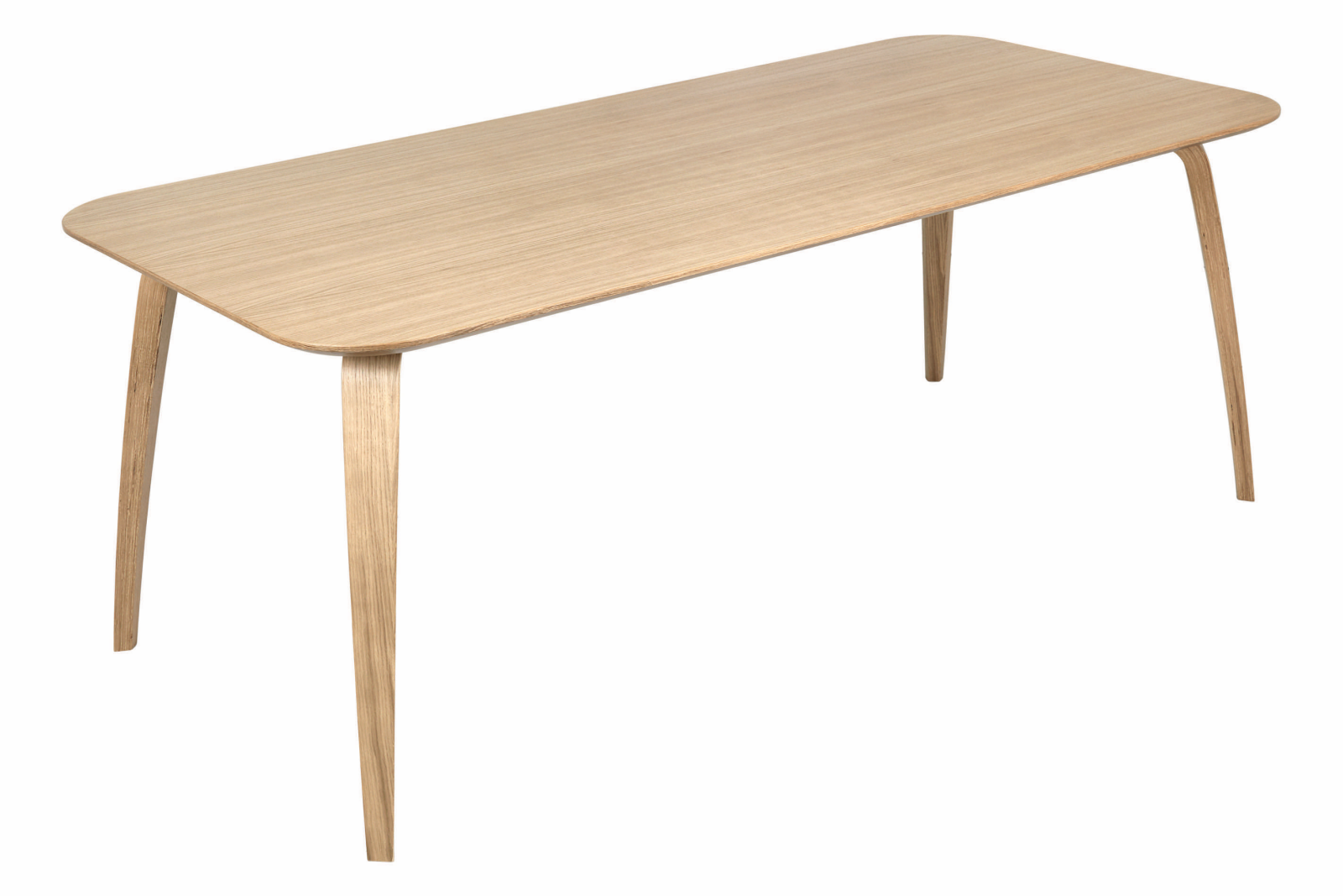 Gubi Rectangular Dining Table Gubi Wood Oak