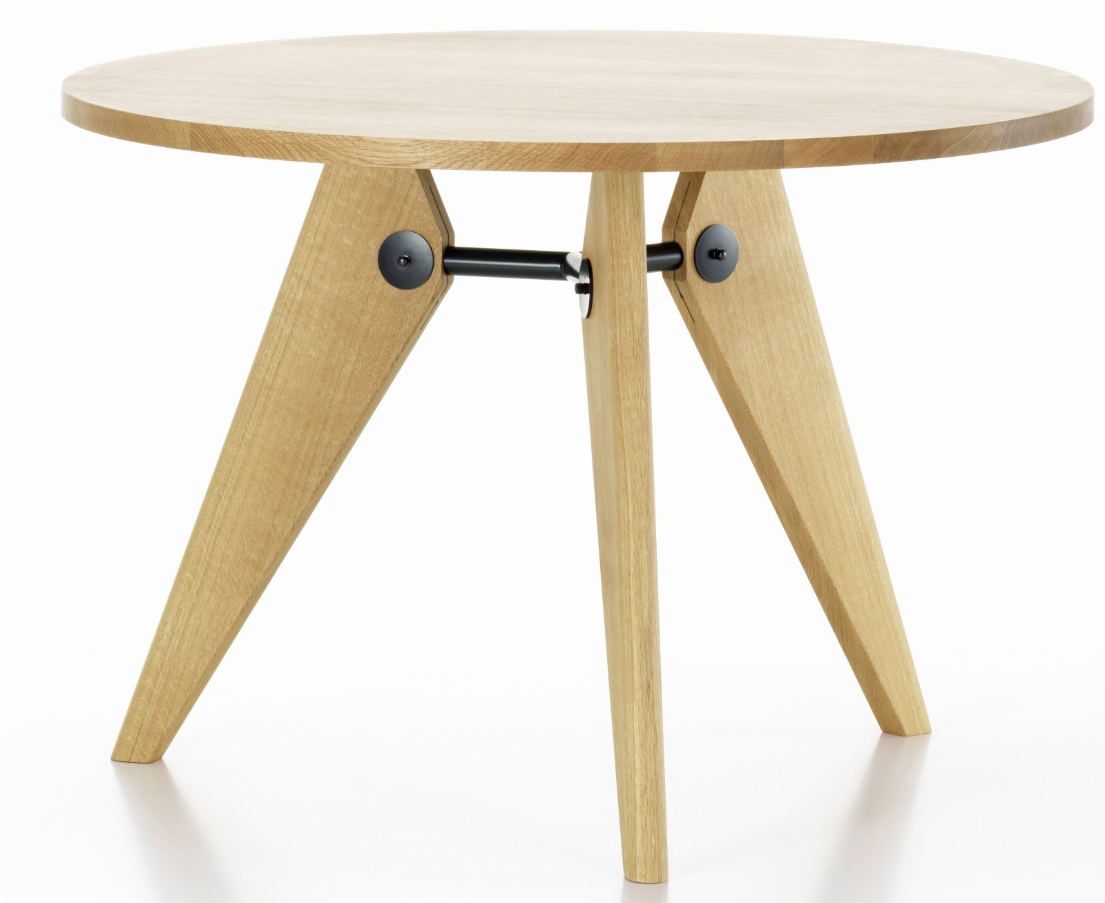 Gueridon Dining Table 70 natural oiled solid oak, 1050