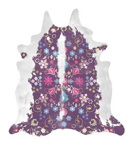 Gypsy Cowhide Rug Gypsy Cowhide Rug Purple