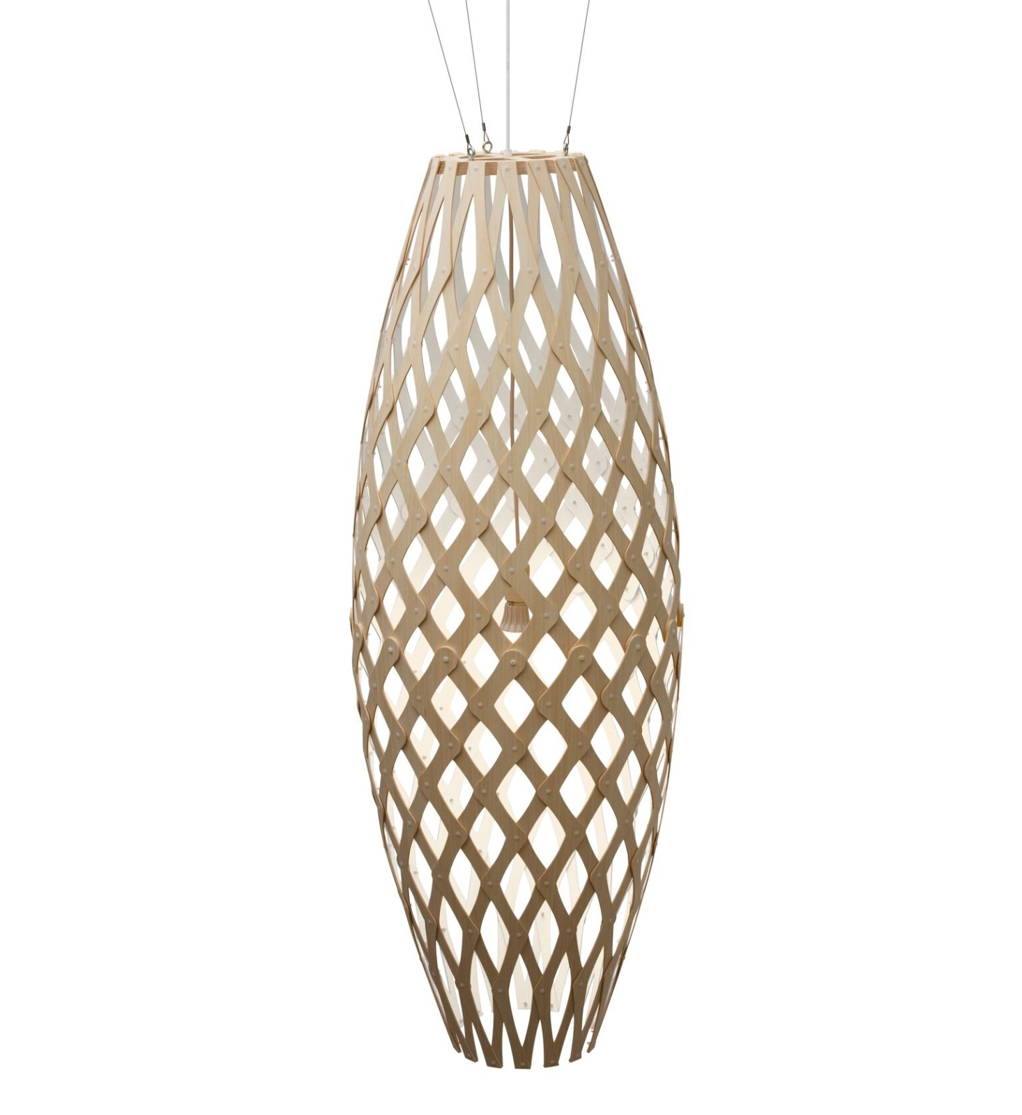 Hinaki Pendant Light White 1 Side, 140