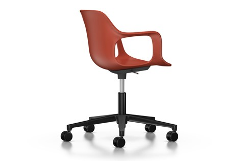HAL Armchair Studio, Without Seat Upholstery 29 brick, 02 castors hard - braked for carpet