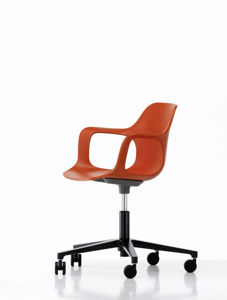 HAL Armchair Studio, Without Seat Upholstery 65 orange, 02 castors hard - braked for carpet