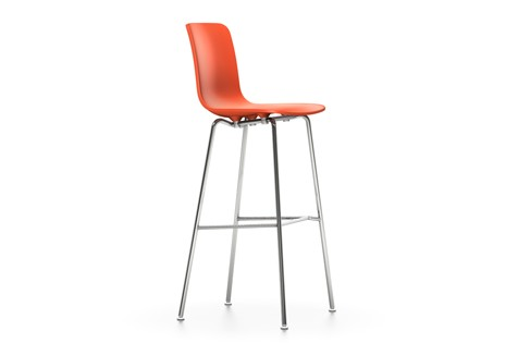 HAL Stool High 65 orange, 04 glides for carpet, 04 white