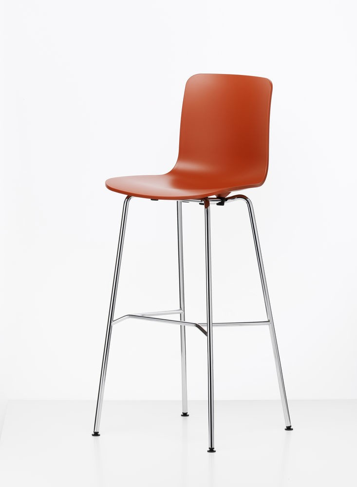 HAL Stool High 65 orange, 04 glides for carpet, 30 basic dark