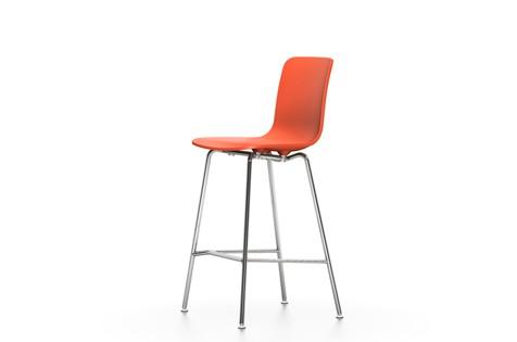 HAL Stool Medium 65 orange, 04 glides for carpet, 04 white