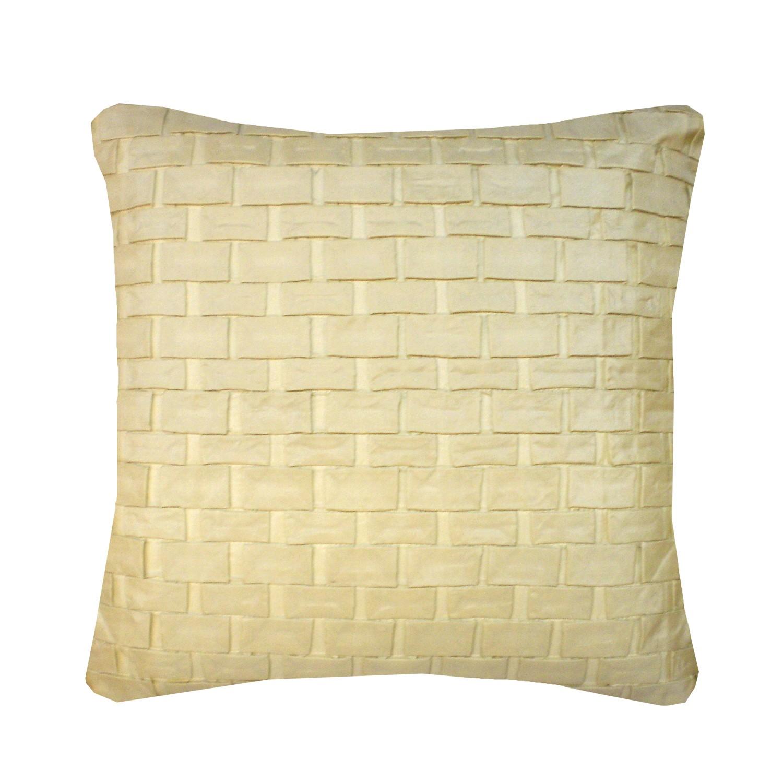 Hand Pleated Square Origami Cushion Cream