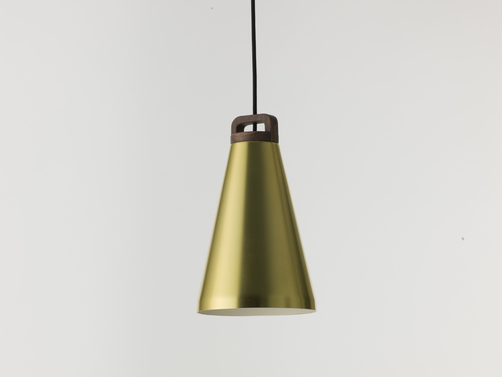 Handle Narrow Pendant Light H17 Handle Pendant lamp Brass/Walnut Narrow