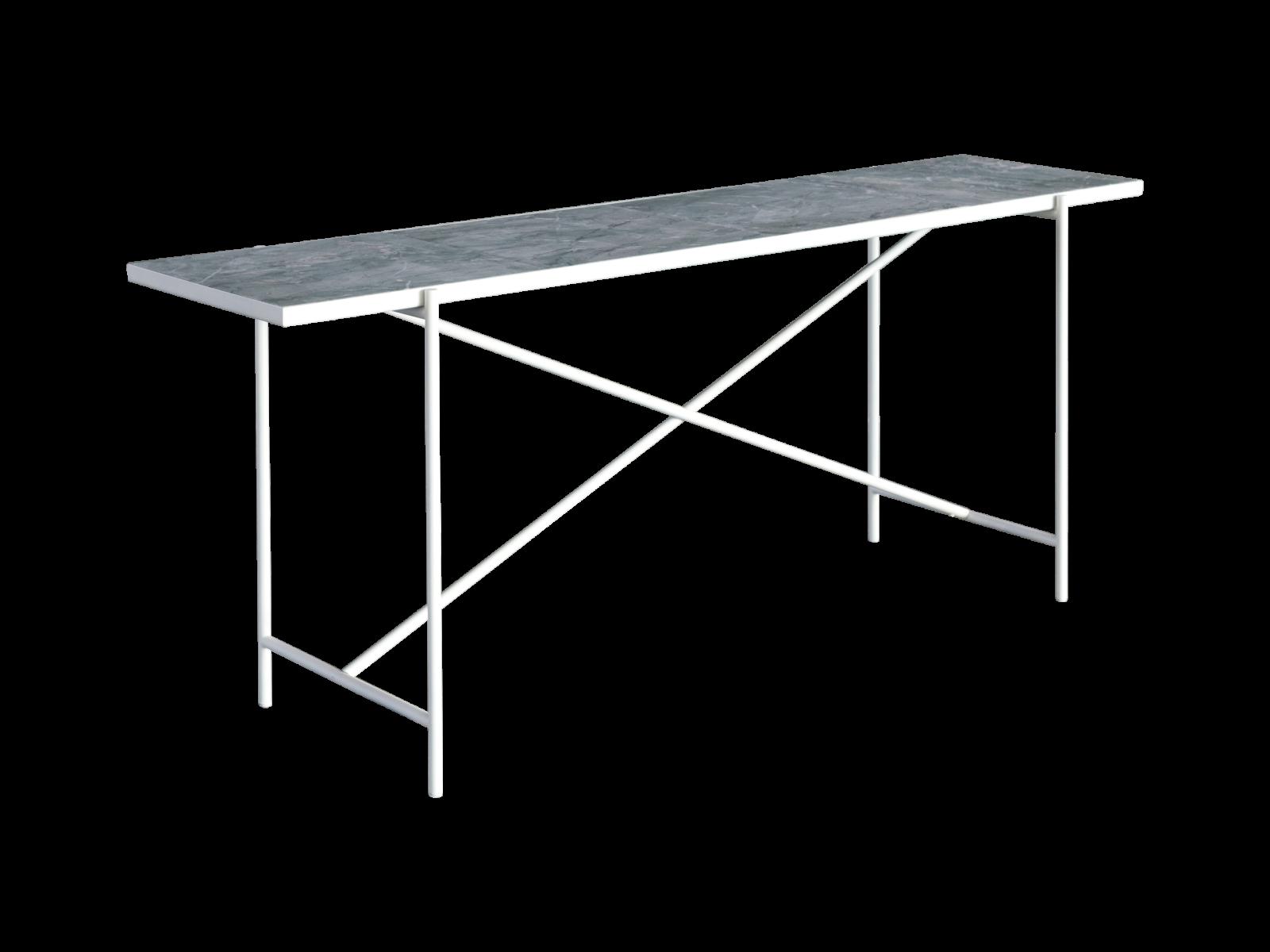 Handvärk Console Table Dolceacqua Marble, White Base