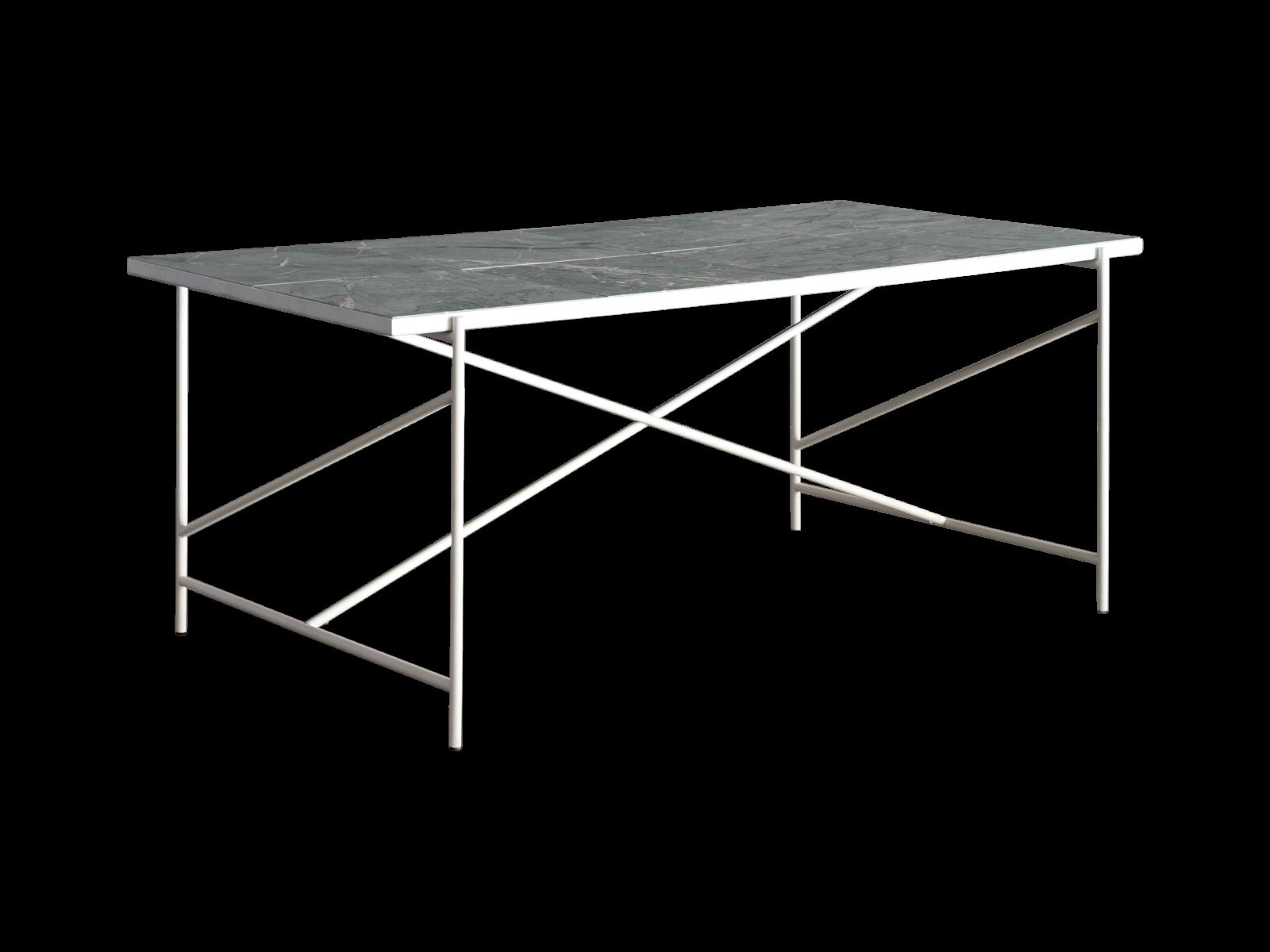 Handvärk Dining Table Dolceacqua Marble, White Base, 185 cm