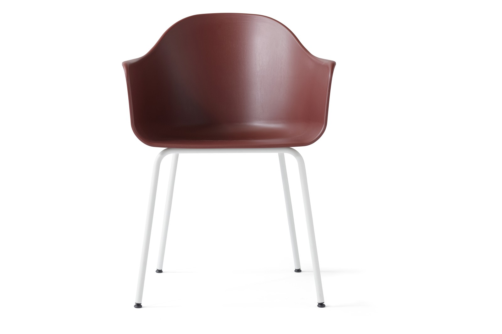 Harbour Chair - Steel Base Light Grey, Burned Red