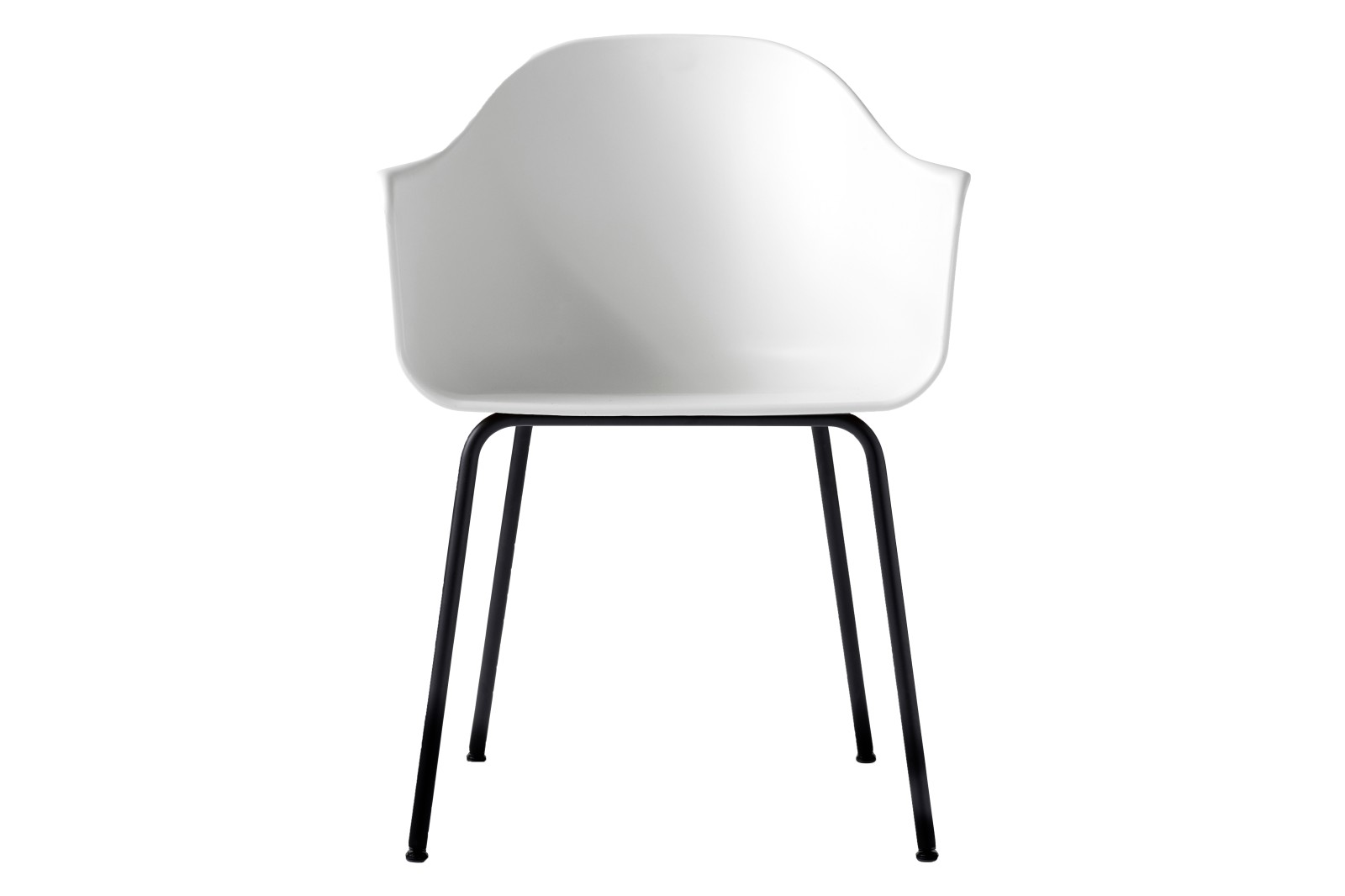 Harbour Chair - Steel Base Black, White