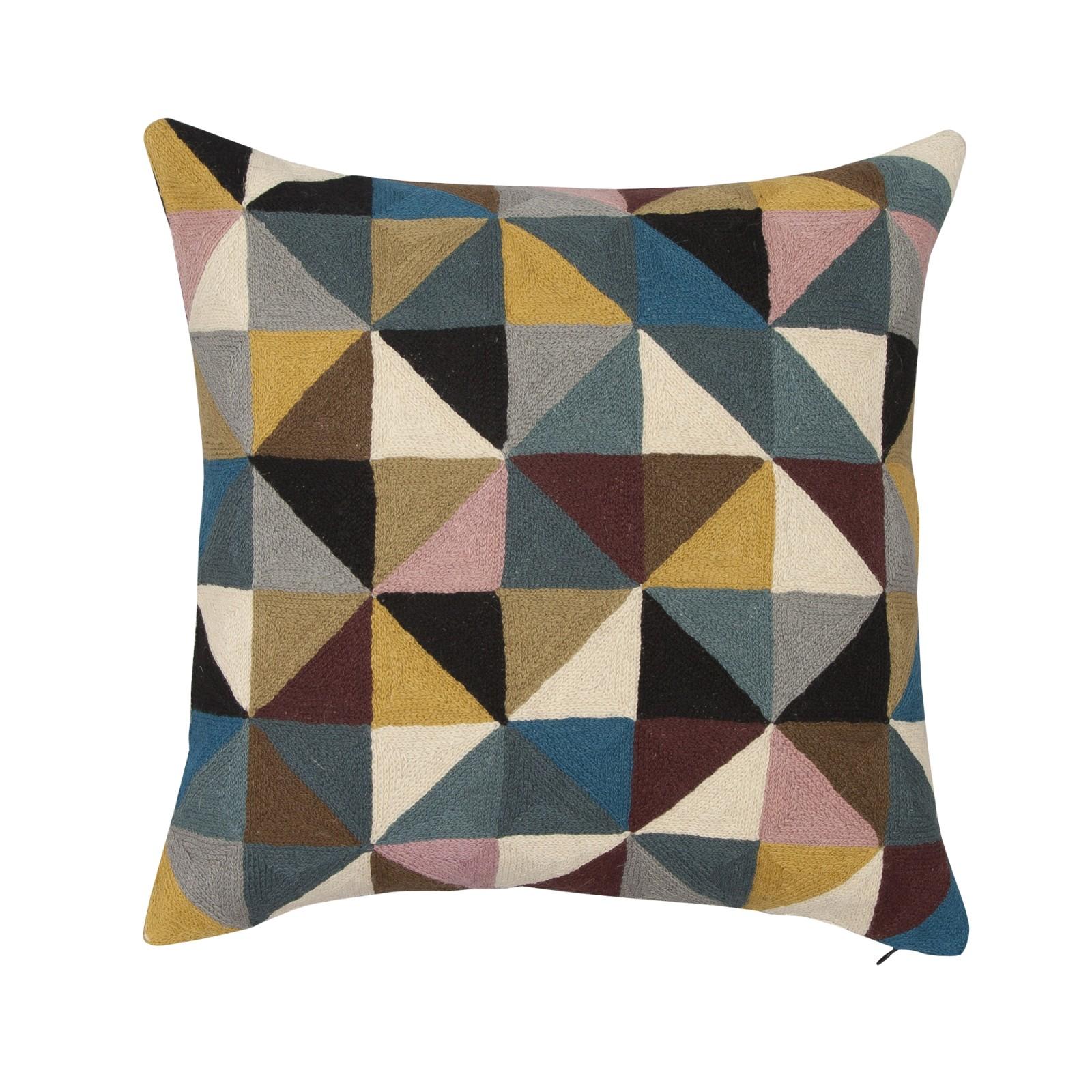 Harlequin Square Linen Cushion Multicoloured