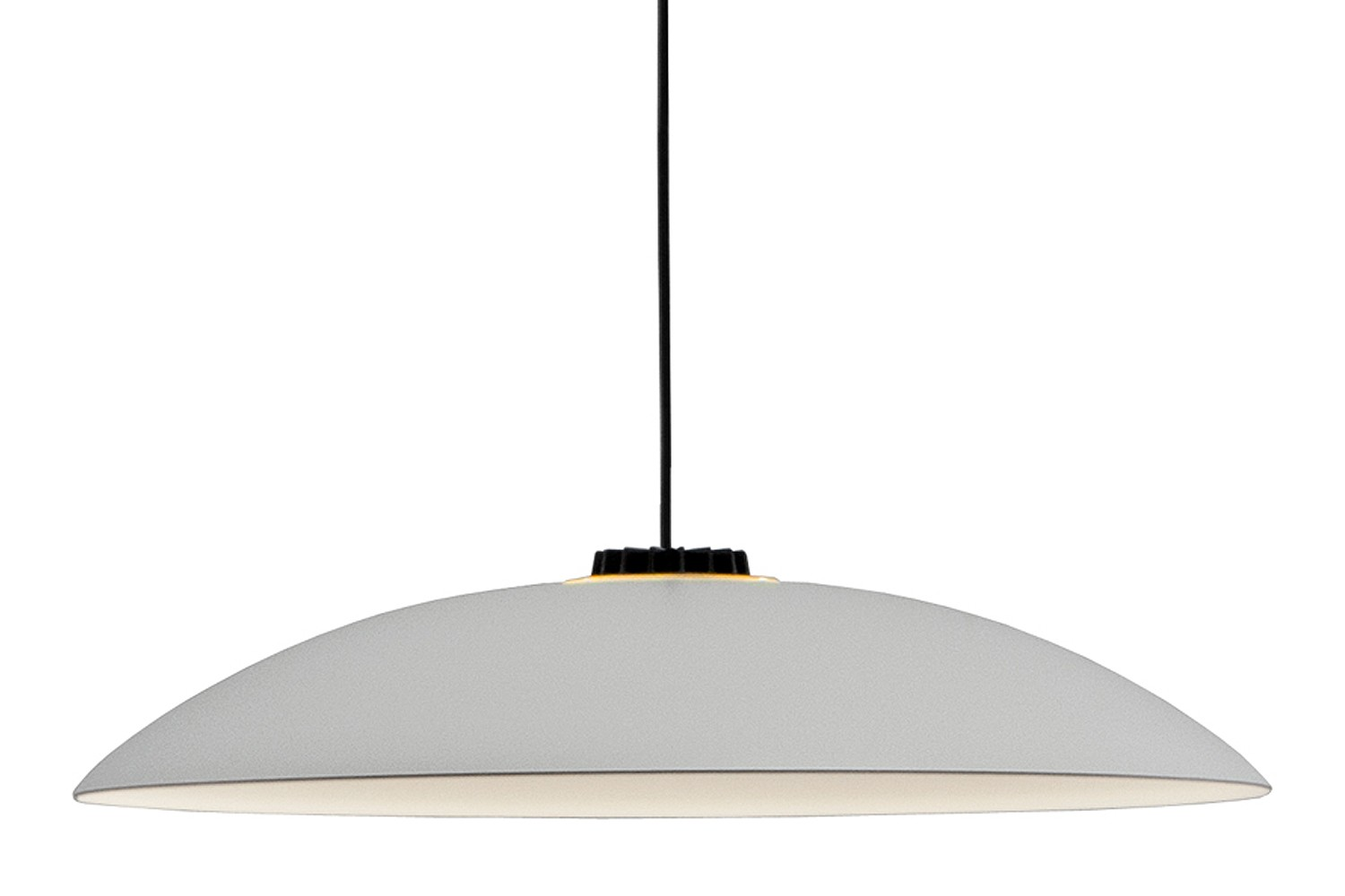 HeadHat Plate Pendant Light White - Dimmable, Medium