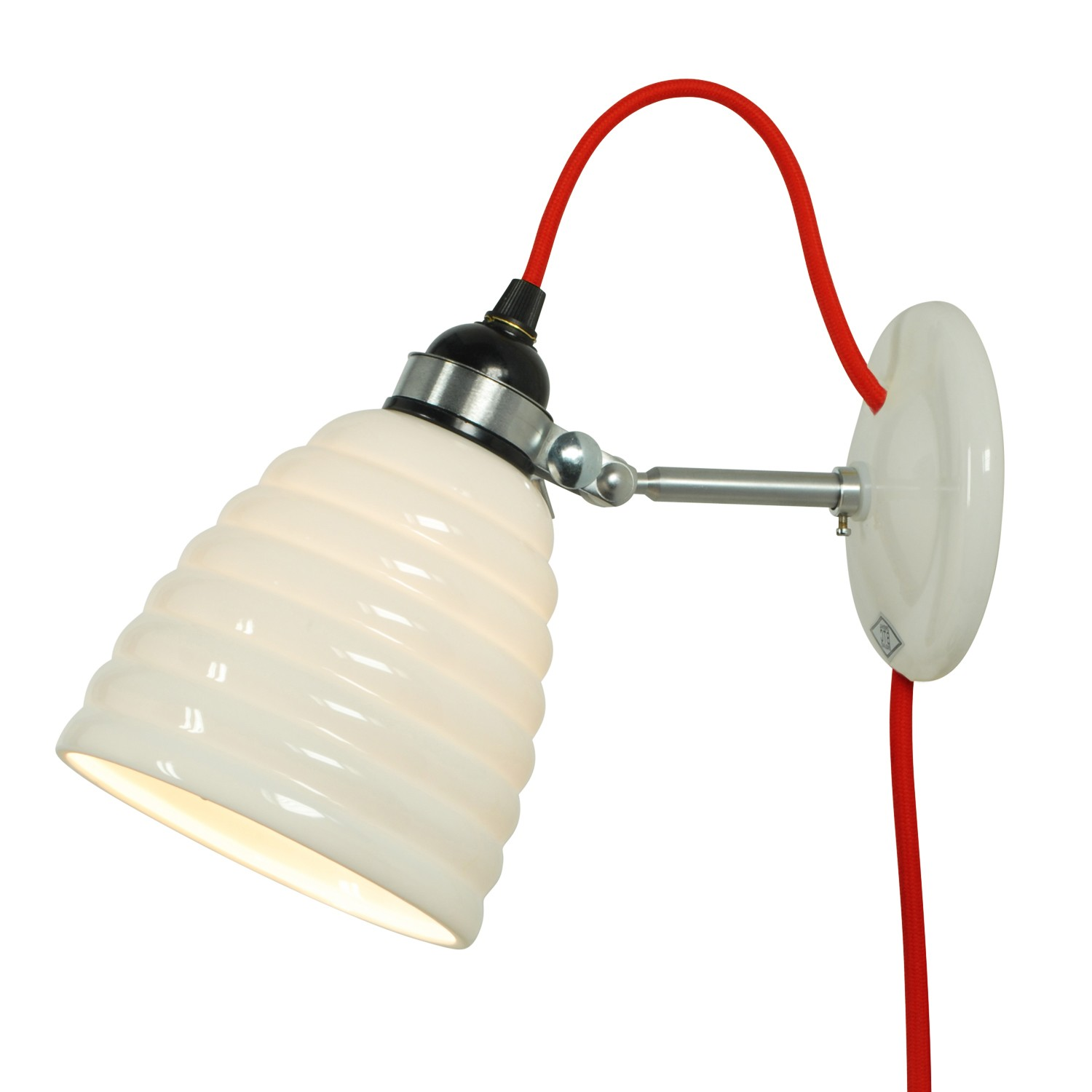 Hector Bibendum Wall Light Red Cable, Plug and Switch