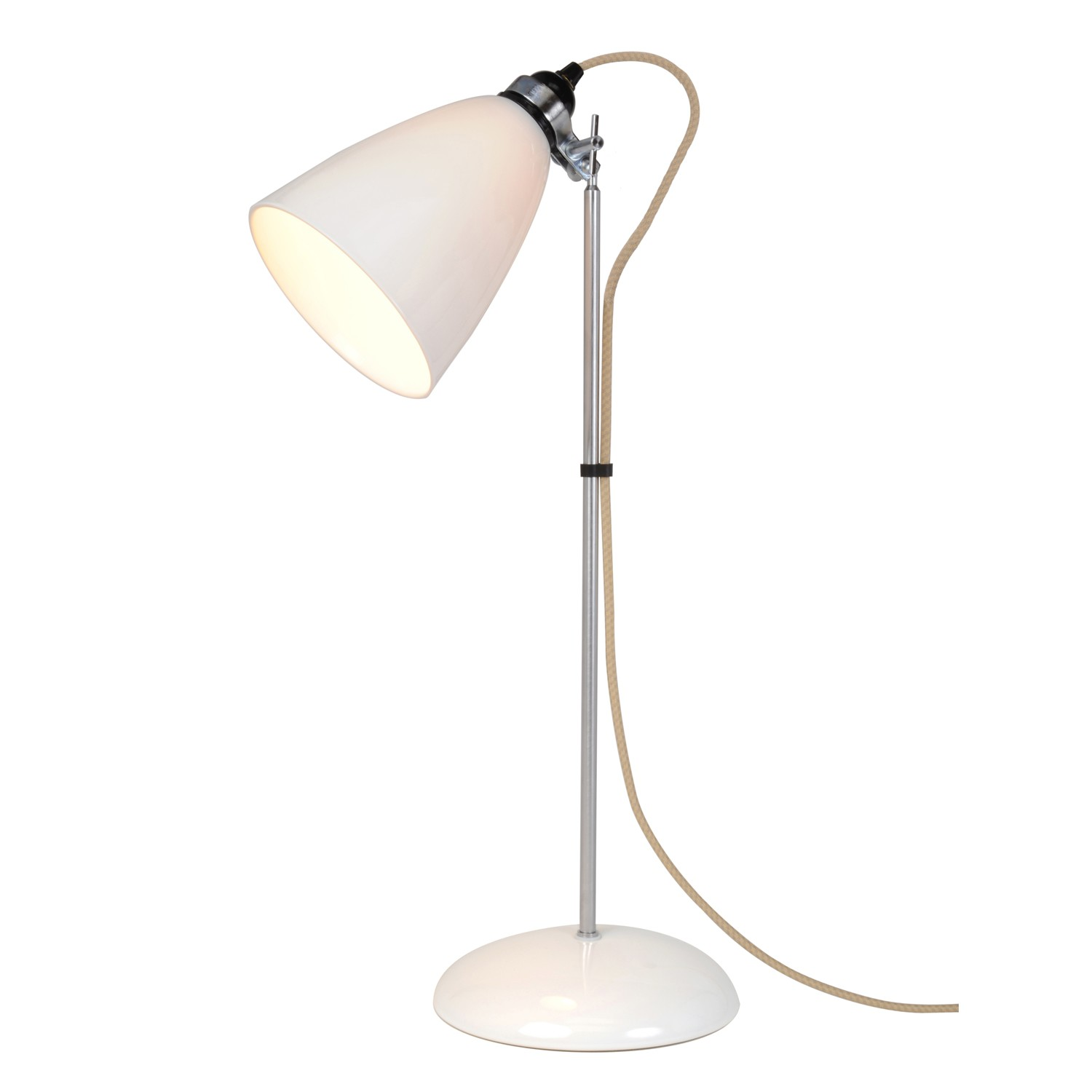 Hector Dome Table Lamp Natural White, Medium