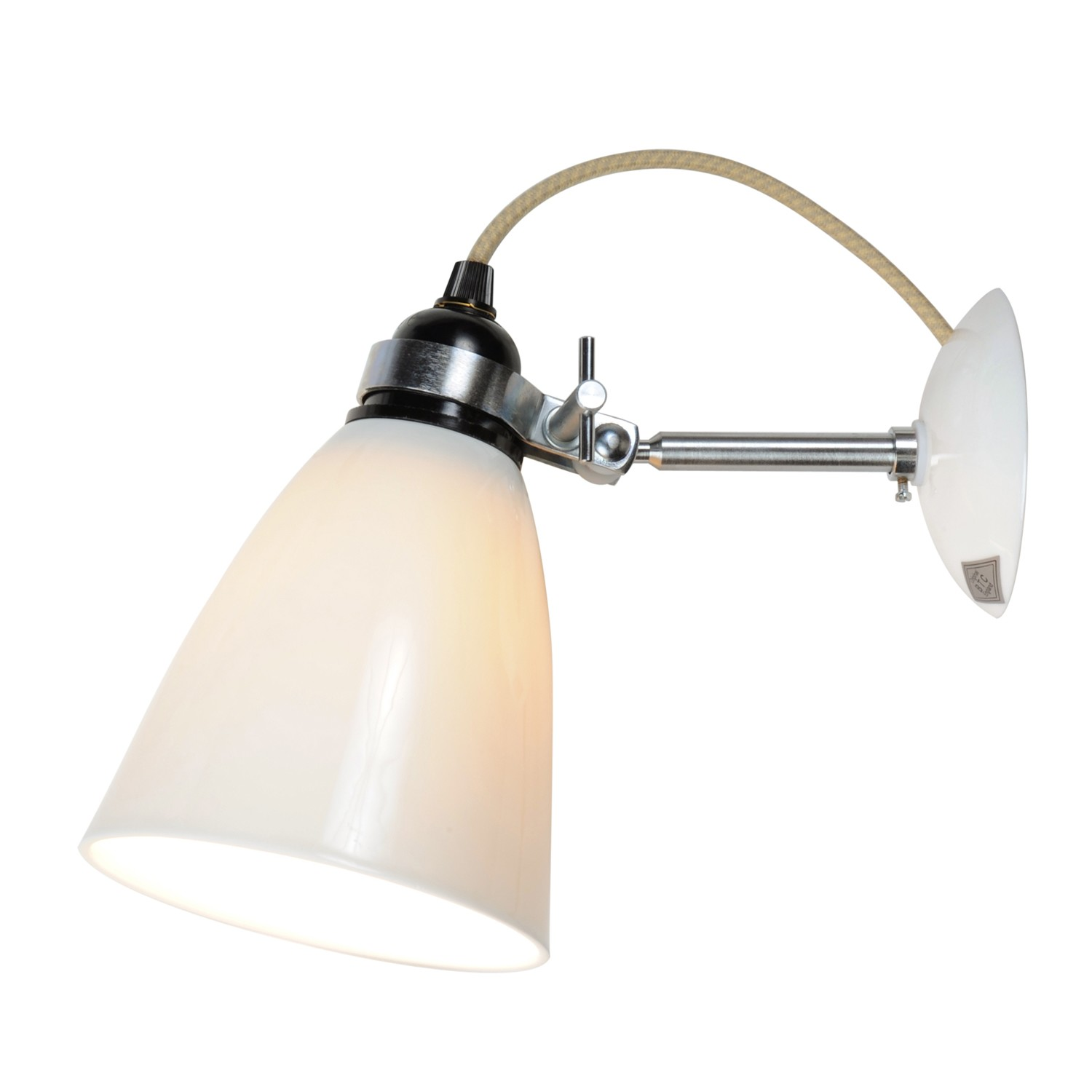 Hector Dome Wall Light Natural White, Medium