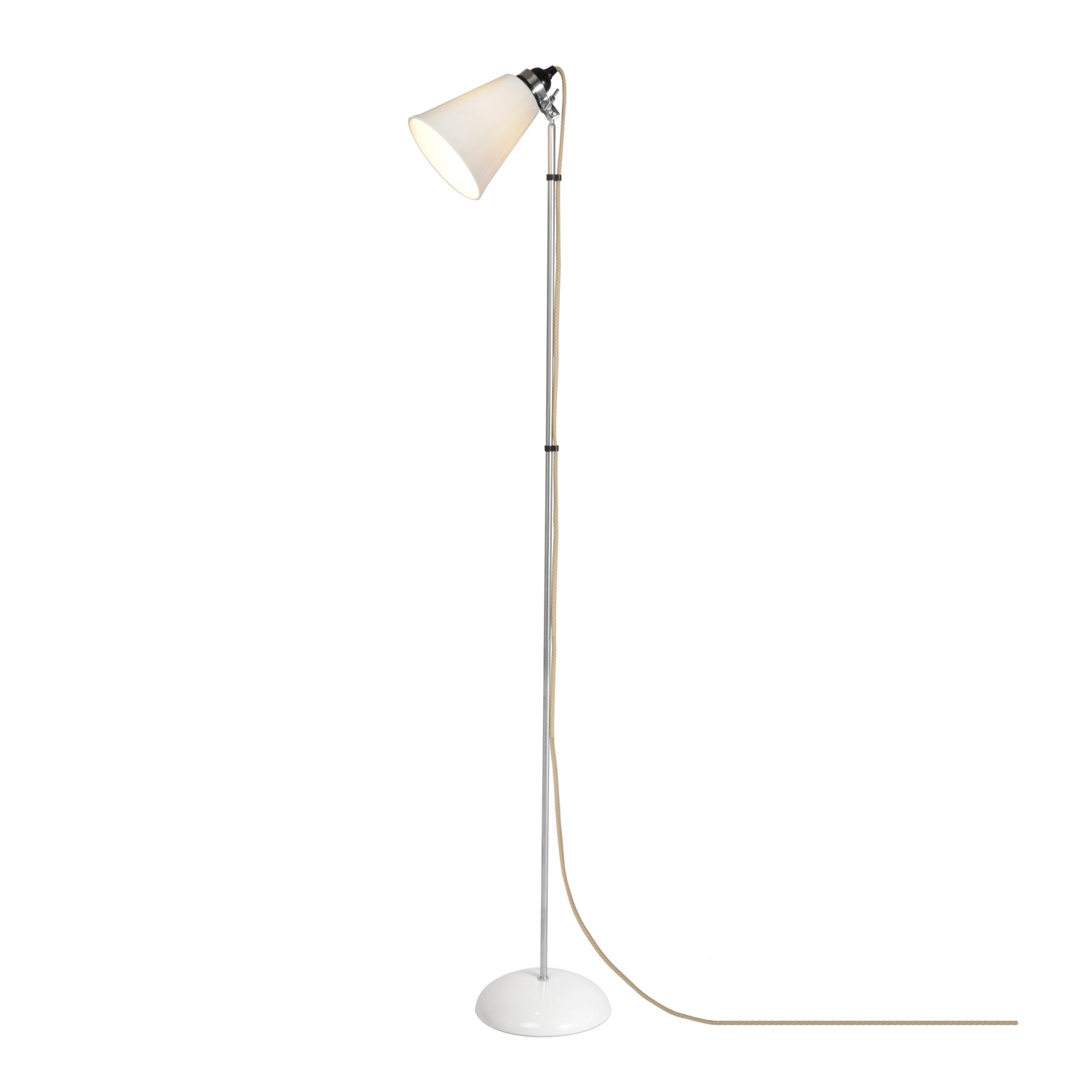 Hector Medium Flowerpot Floor Lamp Natural White