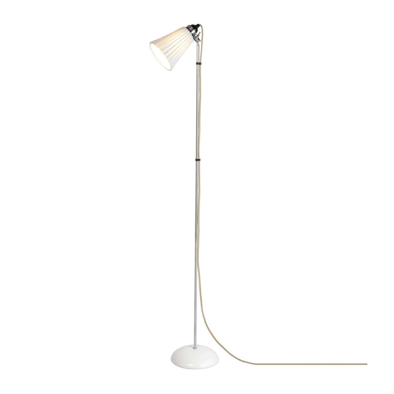 Hector Medium Pleat Floor Lamp Natural White