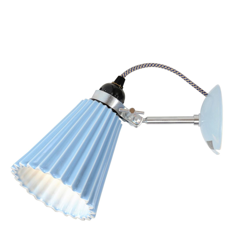 Hector Pleat Wall Light Light Blue, Medium