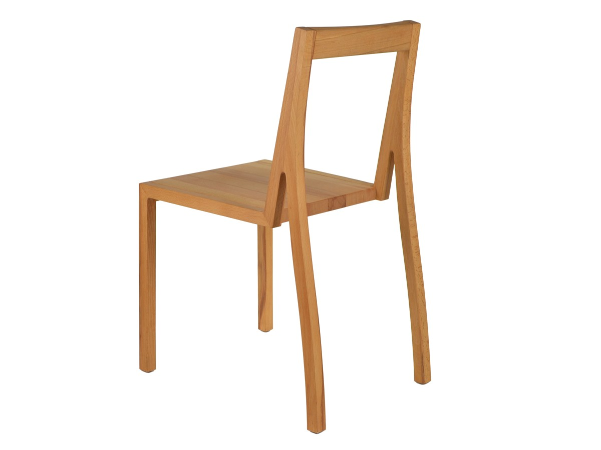 Heel Set of 2 Dining Chairs Lacquered Beech