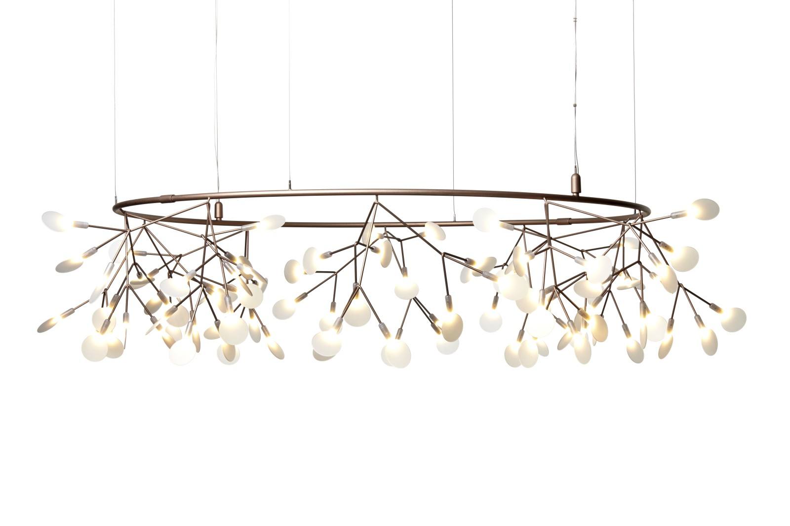 Heracleum Small Big O Pendant Light Copper, 4 m Cable